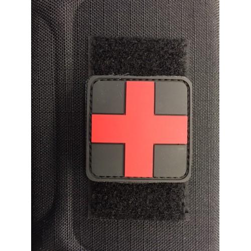Patch croix medic rouge