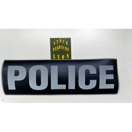 Bandeau Police rétro-réfléchissant fond noir GM