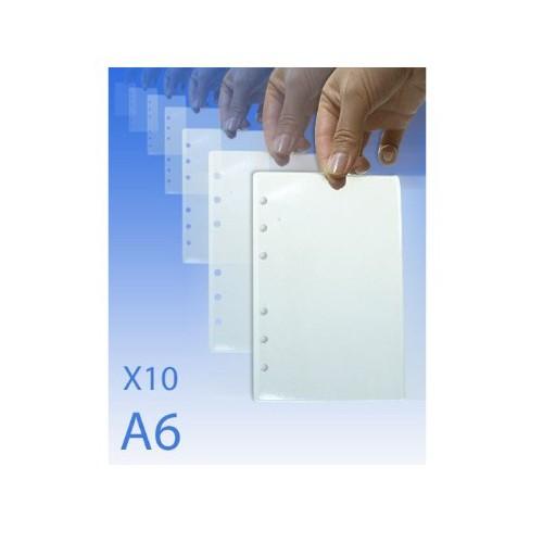 Feuilles plastifiées A6 pour CLA6 (x10 feuilles)