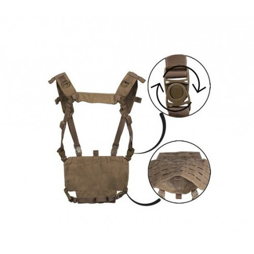 Gilet chest rig léger coyote