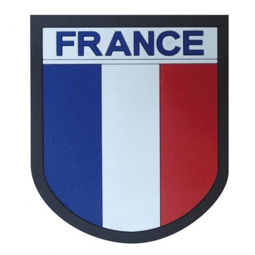 Ecusson France PVC bords noirs