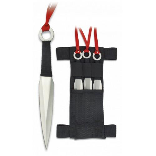 Set 3 couteaux à lancer + étui