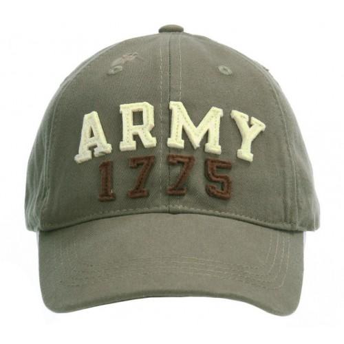 Casquette de baseball délavée : army 1775