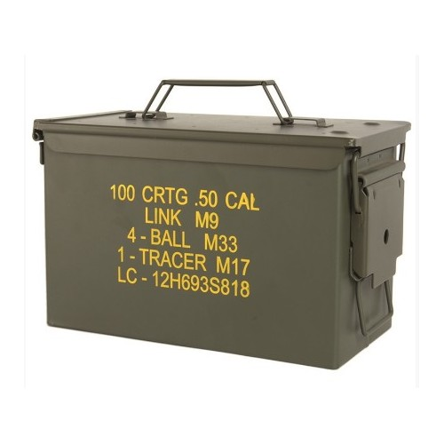CAISSE À MUNITION STEEL M2A1 CAL.50 US