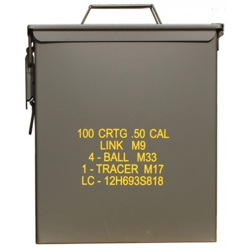 CAISSE À MUNITION STEEL M9 CAL.50 GR. US