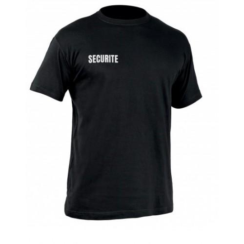 Tee shirt sécurité secu one noir